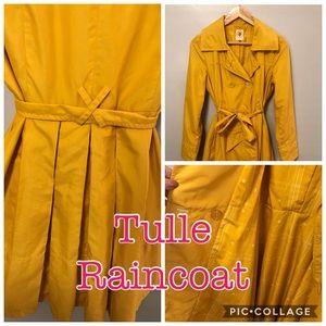 Tulle Bright Mustard Raincoat